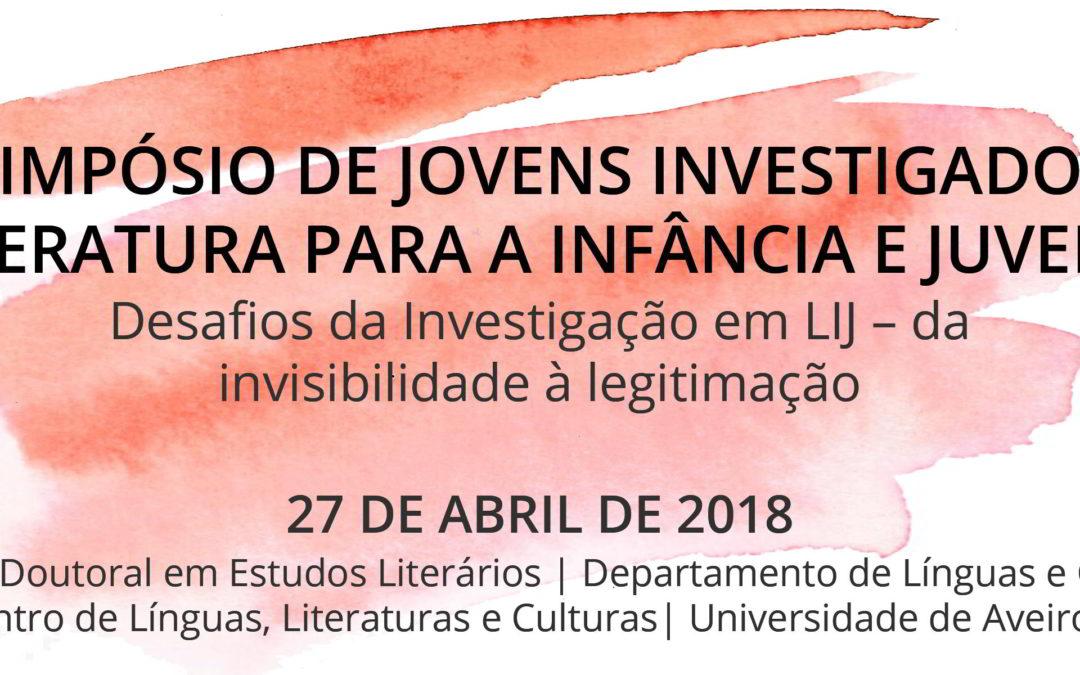 1.º Simpósio de Jovens Investigadores em Literatura para a Infância e Juventude